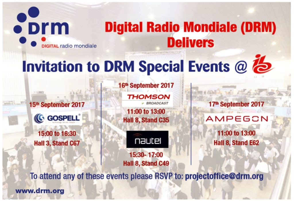 Gospell DRM Event at IBC 2017 @ RAI  | Amsterdam | North Holland | Netherlands